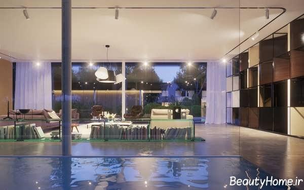 طراحی داخلی برای ویلای مدرن