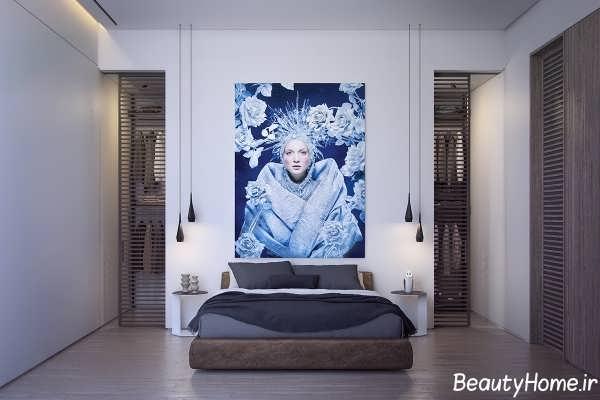 طراحی اتاق خواب در درون ویلای مدرن