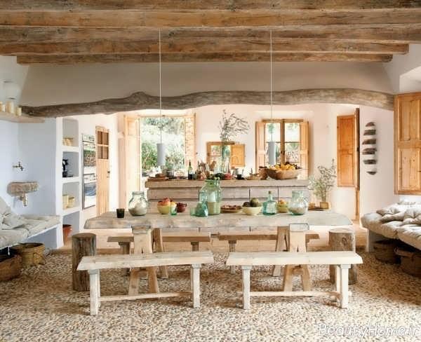 دیزاین منزل با سبک روستیک