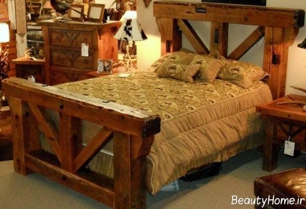 دکوراسیون داخلی اتاق خواب با سبک روستیک