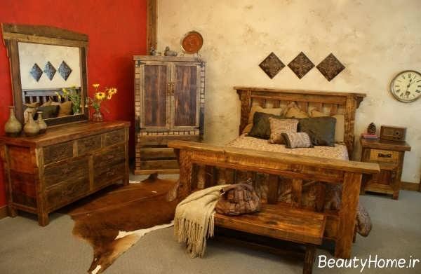 طراحی داخلی منزل با سبک روستیک