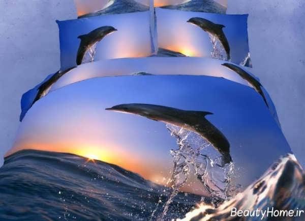 روتختی سه بعدی با طرح دریا و دلفین
