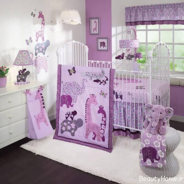 دکوراسیون داخلی اتاق نوزاد دخترانه