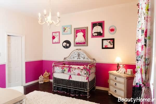 طراحی های فانتزی دکوراسیون اتاق نوزاد