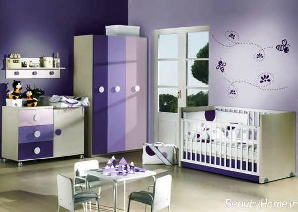 دکوراسیون اتاق نوزاد دخترانه با دیزاین های فانتزی و زیبا