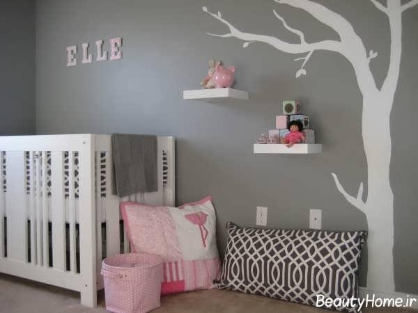 دکوراسیون های داخلی زیبا و شیک برای اتاق نوزاد دختر