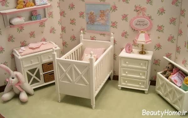 طراحی های زیبا اتاق نوزاد دختر