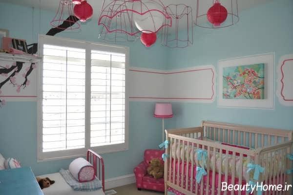 طراحی دکوراسیون اتاق نوزاد دخترانه با جدیدترین طرح ها