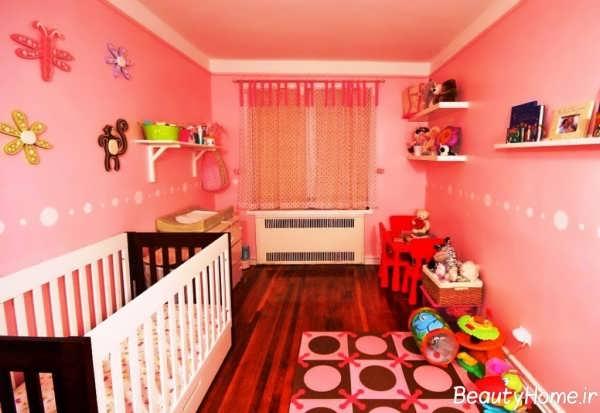 دکوراسیون داخلی زیبا برای اتاق نوزاد