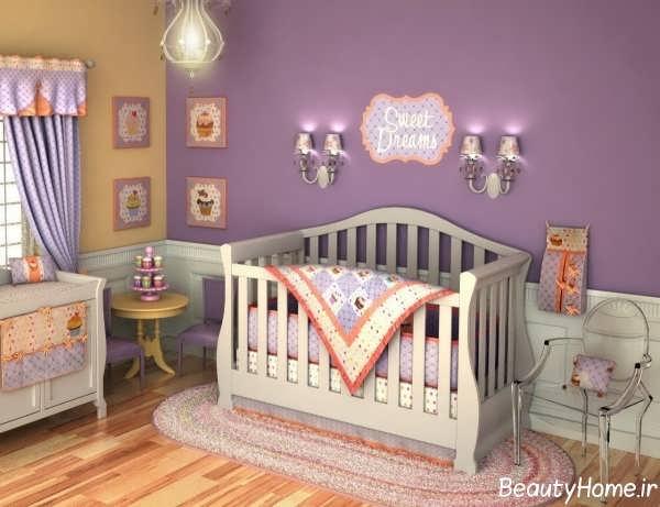 دکوراسیون اتاق نوزاد دخترانه با انواع طراحی های فانتزی و زیبا