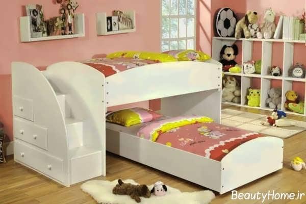 مدل تخت خواب دخترانه شیک و متفاوت