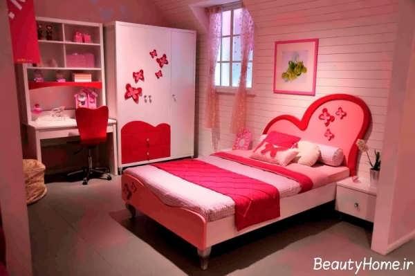 مدل تخت خواب دخترانه زیبا و شیک