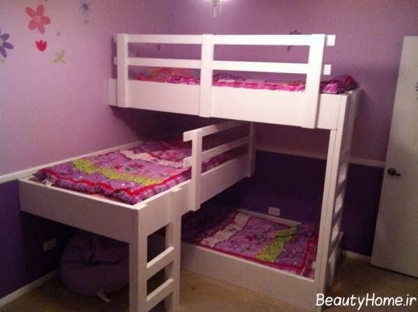 مدل تخت خواب دو طبقه دخترانه