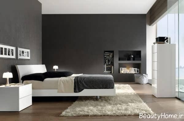 اتاق خواب های زیبا با رنگ تیره