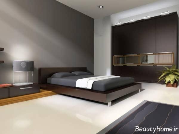 تصاویر دکوراسیون اتاق خواب تیره با طراحی ایده آل