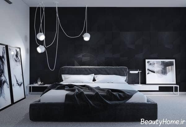 طراحی اتاق خواب تیره با دکوراسیون های زیبا