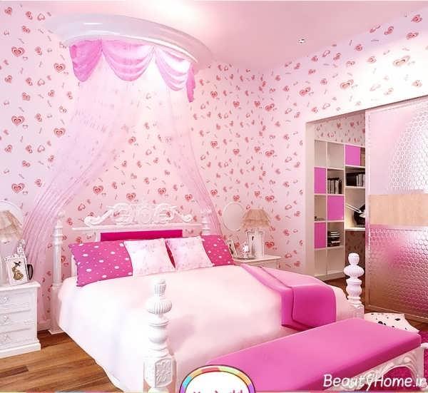 طرح های فانتزی و زیبا کاغذ دیواری اتاق خواب