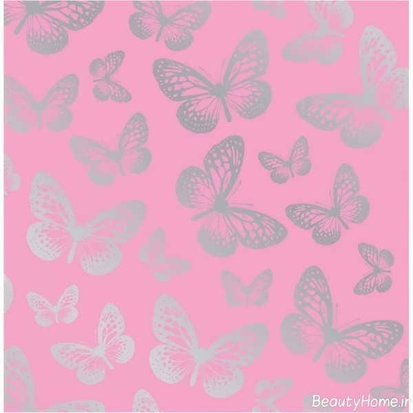 کاغذ دیواری با طرح پروانه