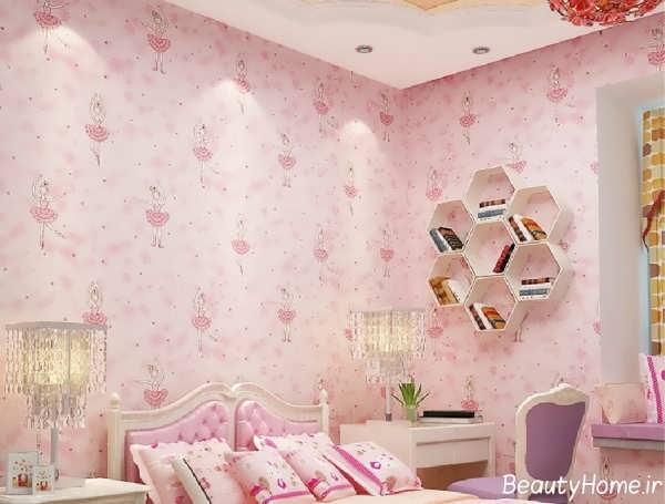 کاغذ دیواری با طرح متنوع برای اتاق خواب