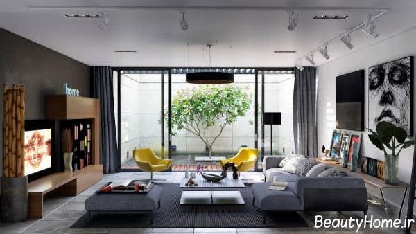 دکوراسیون داخلی اتاق پذیرایی زیبا
