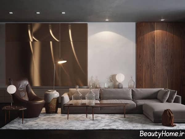 دیزاین اتاق پذیرایی اروپایی