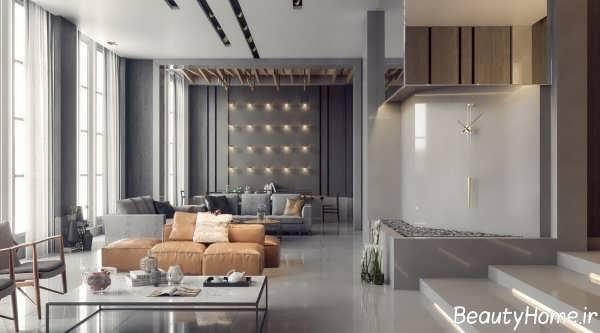 طراحی اتاق پذیرایی با سبک مدرن و اروپایی