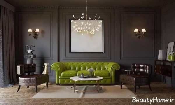 دیزاین اتاق پذیرایی به سبک مدرن و اروپایی