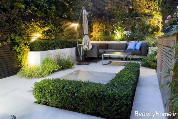 دیزاین زیبا و جذاب باغچه ویلا