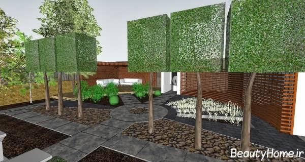 باغچه ویلا با طراحی بی نظیر