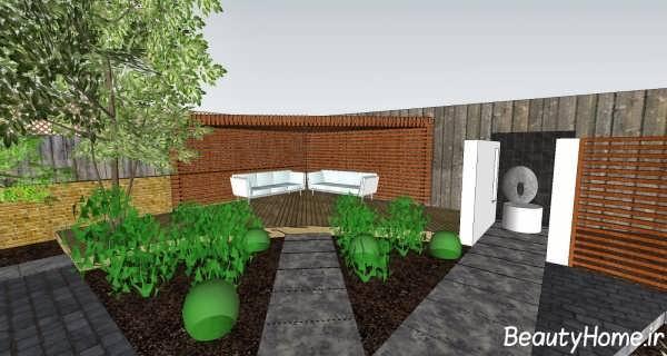 طراحی های مختلف برای باغچه ویلا