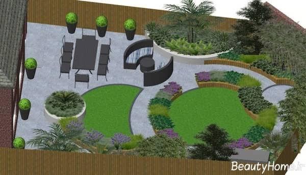 طراحی باغچه ویلا با روش های مختلف