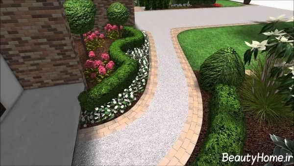 طراحی های زیبا و متفاوت برای باغچه ویلا