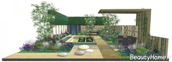 طراحی های زیبا برای باغچه ویلا