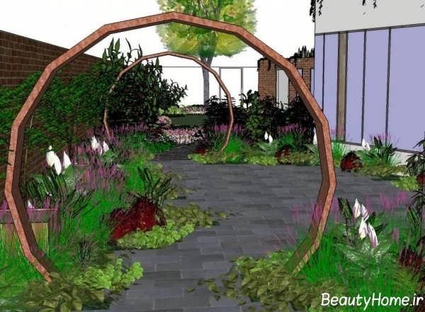 طراحی کردن باغچه ویلا