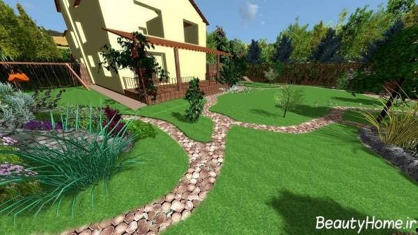 طراحی باغچه ویلا با کمک ایده های جدید