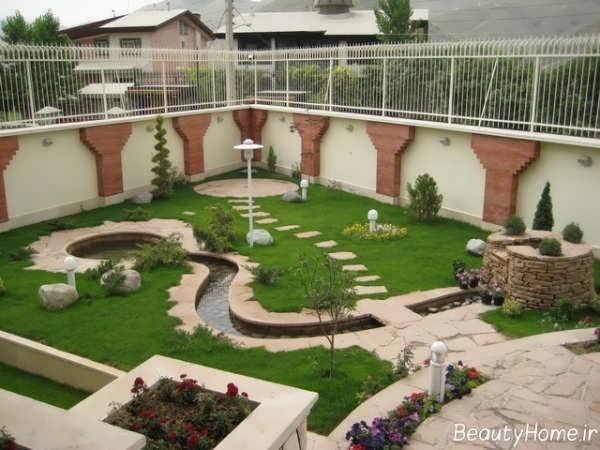 طراحی باغچه ویلا با ایده های مختلف و متنوع