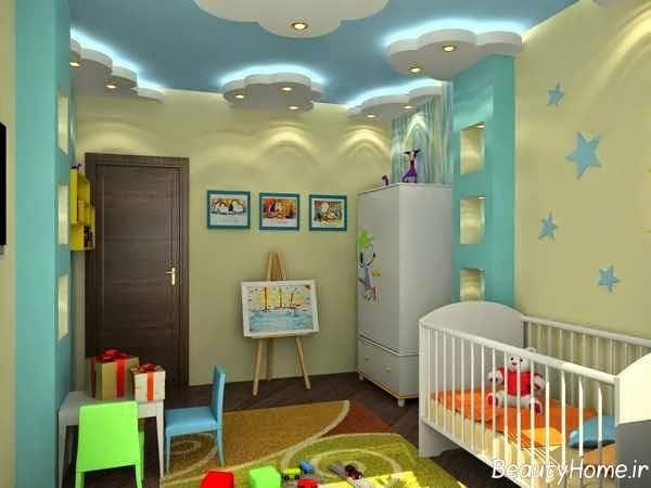 نورپردازی مدرن برای کناف اتاق خواب