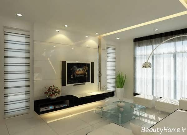 طراحی اتاق نشیمن با دکوراسیون های لوکس و متفاوت