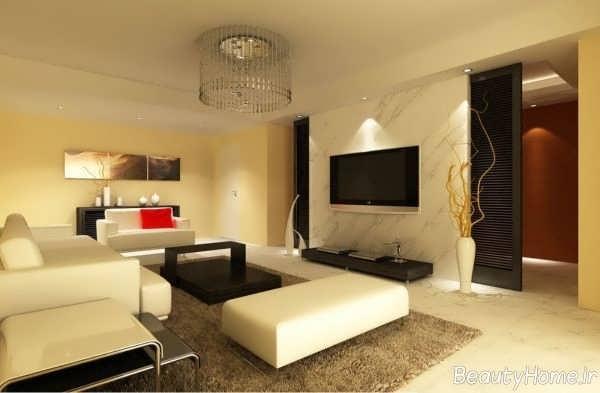 طراحی کاربردی و زیبا اتاق نشیمن