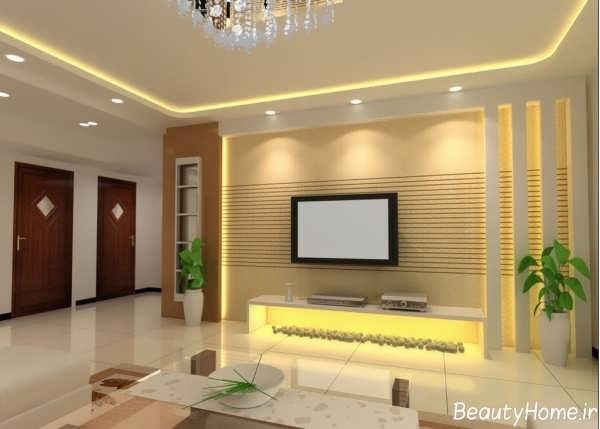 طراحی و نورپردازی زیبا در درون اتاق نشیمن