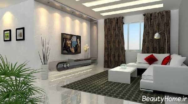 طراحی اتاق نشیمن با دکوراسیون های متفاوت