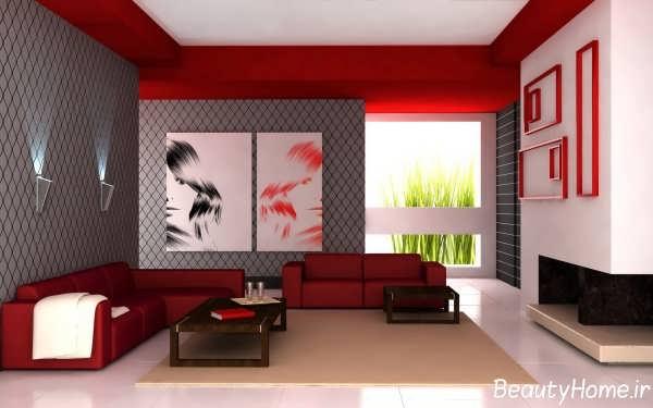 دکوراسیون رنگی برای اتاق نشیمن
