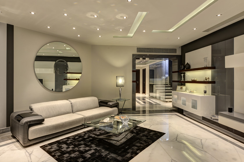 طراحی اتاق نشیمن با دکوراسیون های زیبا
