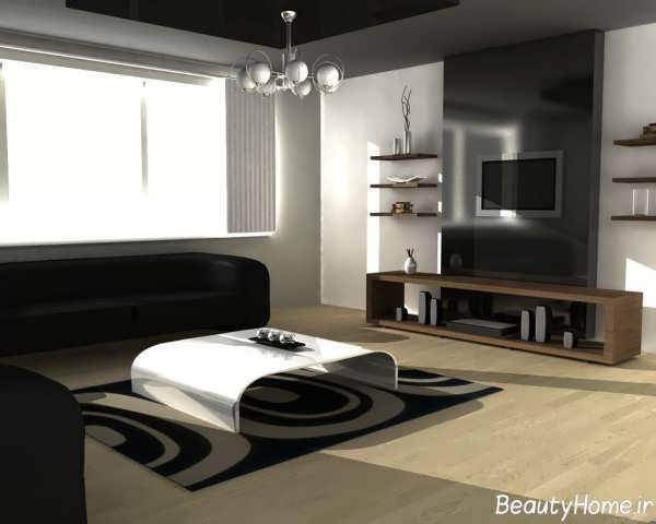 دکوراسیون داخلی پذیرایی با سبک زیبا و ساده مینیمال