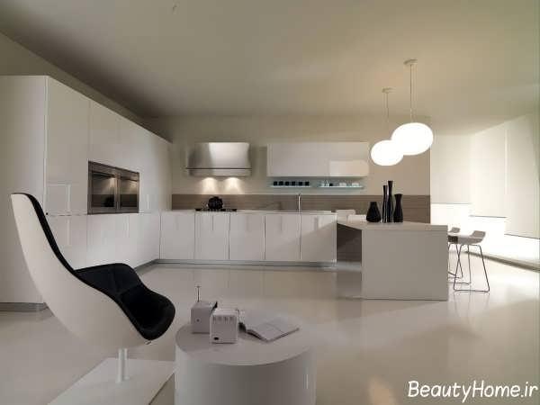 طراحی نورپردازی برای آشپزخانه های بدون اپن