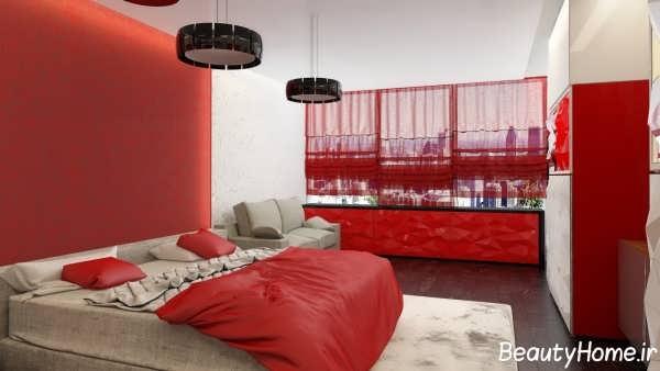 طراحی دکوراسیون اتاق خواب رنگی
