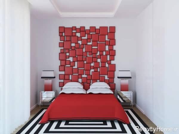 دکوارسیون زیبا اتاق خواب قرمز