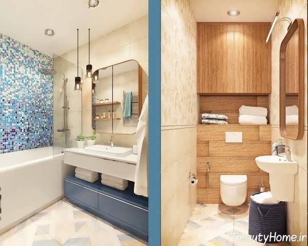 طراحی سرویس بهداشتی برای آپارتمان های کوچک