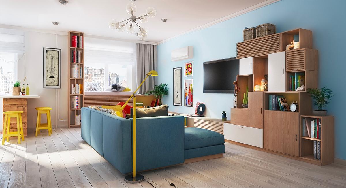 طراحی داخلی 2 آپارتمان کوچک