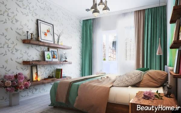 طراحی زیبا برای اتاق خواب خانه های کوچک